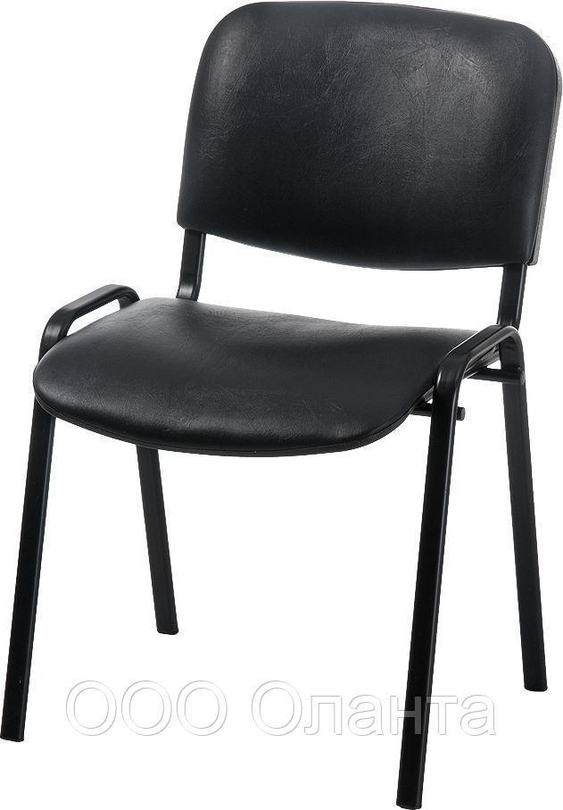 """Офисный стул """"ИЗО"""" (каркас черный/обивка кожзам)"""