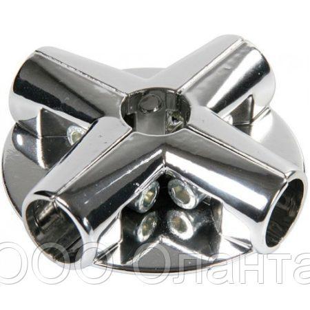Соединитель 5-ти труб угловой с площадками арт. Uno-14