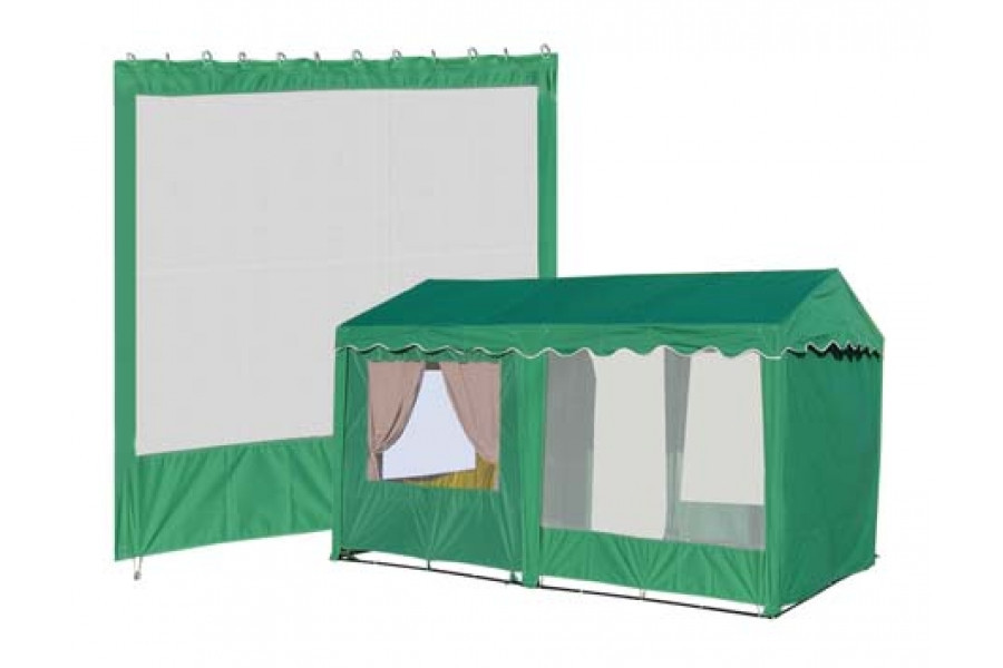 Стенка с сеткой (2000х2000 мм) для шестигранного шатра