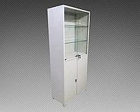 Шкаф архивный металлический двухсекционный комбинированный (800х400х1850), фото 1