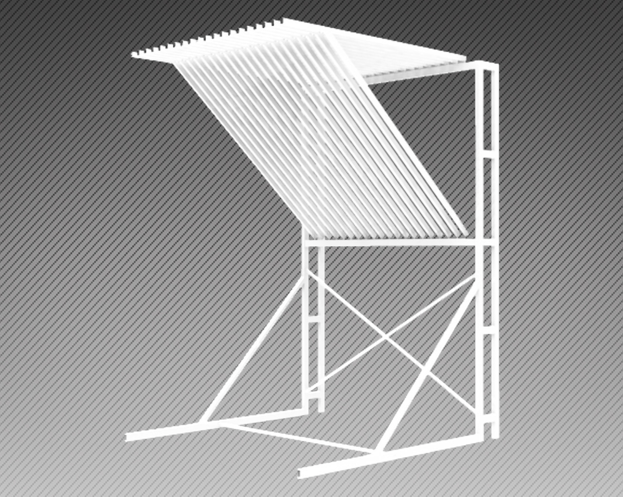 Стойка-экспозитор для ковров на 20 мест (2000х2220х3000 мм) арт. СК4