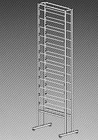 Стеллаж под обои двухсторонний на 24 рулона (L=1060 мм) арт. СО1060/24