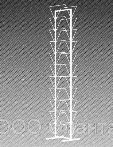 Экспозитор двухсторонний под клеевые потолки на 22 ячейки арт. СКП22