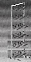 Прикассовая стойка на 6 дисплеев с крючками (400х400х1450 мм) арт. СтПр10