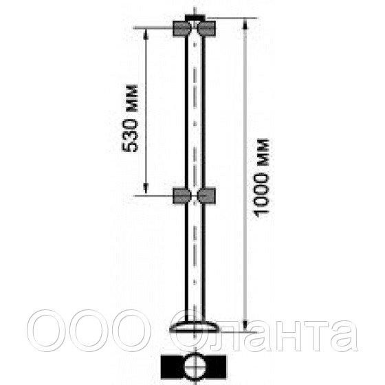 Столбик ограждения 4 муфты арт. SW.050.102