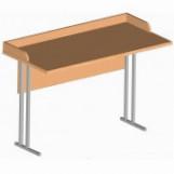 Стол ученический для кабинета химии, физики и биологии двухместный арт. СФ-1п
