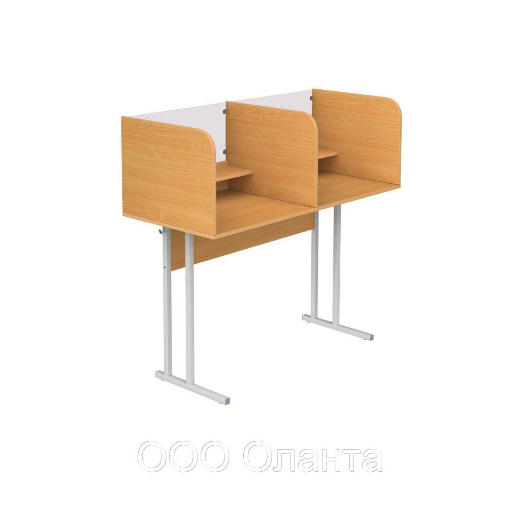 Стол лингафонный ученический для кабинета иностранного языка двухместный арт. Л-2