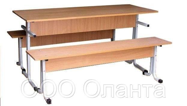 Обеденная группа для школьной столовой (1500х600х750 мм) арт. ОЗ-1/1