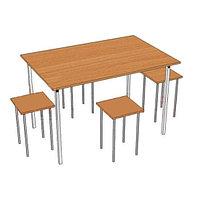 Обеденная группа для школьной столовой (1200х600х750 мм) арт. ОЗ-2