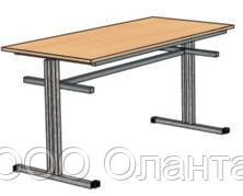 Обеденный стол для школьной столовой (1500х600х750 мм) арт. ОС-1/1