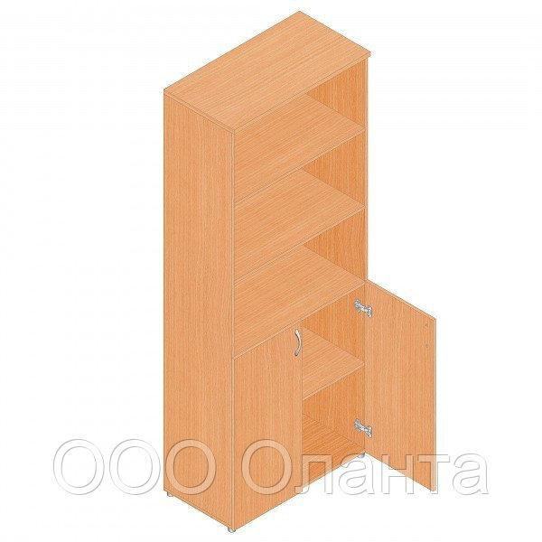Шкаф для документов офисный (798х418х1960) с полками и дверками