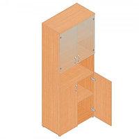 Шкаф для документов офисный (798х418х1960) с нишей и комбинированными дверками, фото 1