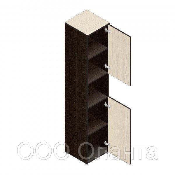 Шкаф для документов офисный (402х418х1960) с нишей и дверками