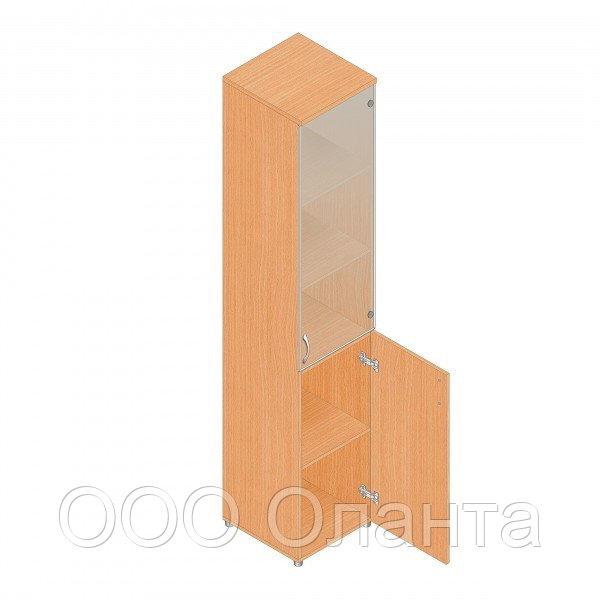 Шкаф для документов офисный (402х418х1960) с комбинированными дверками