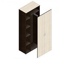 Шкаф гардеробный для офиса (798х418х1960) комбинированный с выдвижной штангой