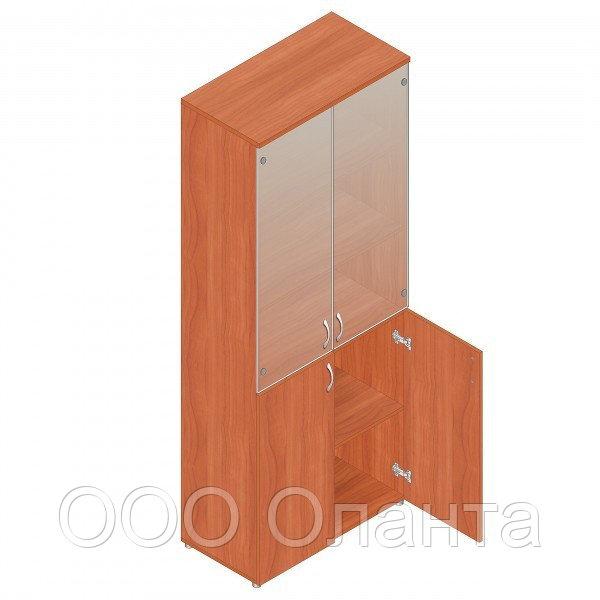 Шкаф для документов офисный (798х418х1960) с комбинированными дверями
