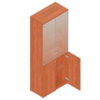 Шкаф для документов офисный (798х418х1960) с комбинированными дверями, фото 1
