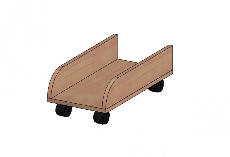 Подставка под системный блок (520х264х180) на колесах