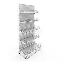 Пристенный металлический торговый стеллаж (1030х570х2250 мм) 5 полок арт. СП-25