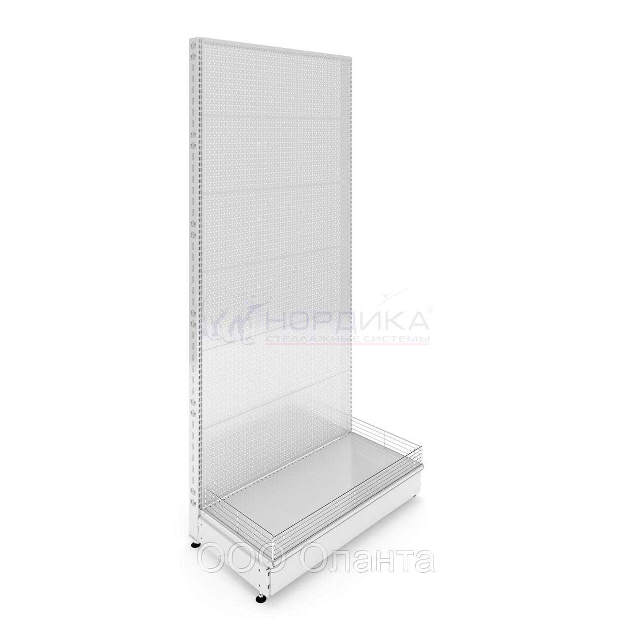 Пристенный металлический торговый стеллаж (1030х570х2250 мм) перфорированный арт. СПП-25