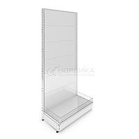 Пристенный металлический торговый стеллаж (1030х570х2250 мм) перфорированный арт. СПП-25, фото 1
