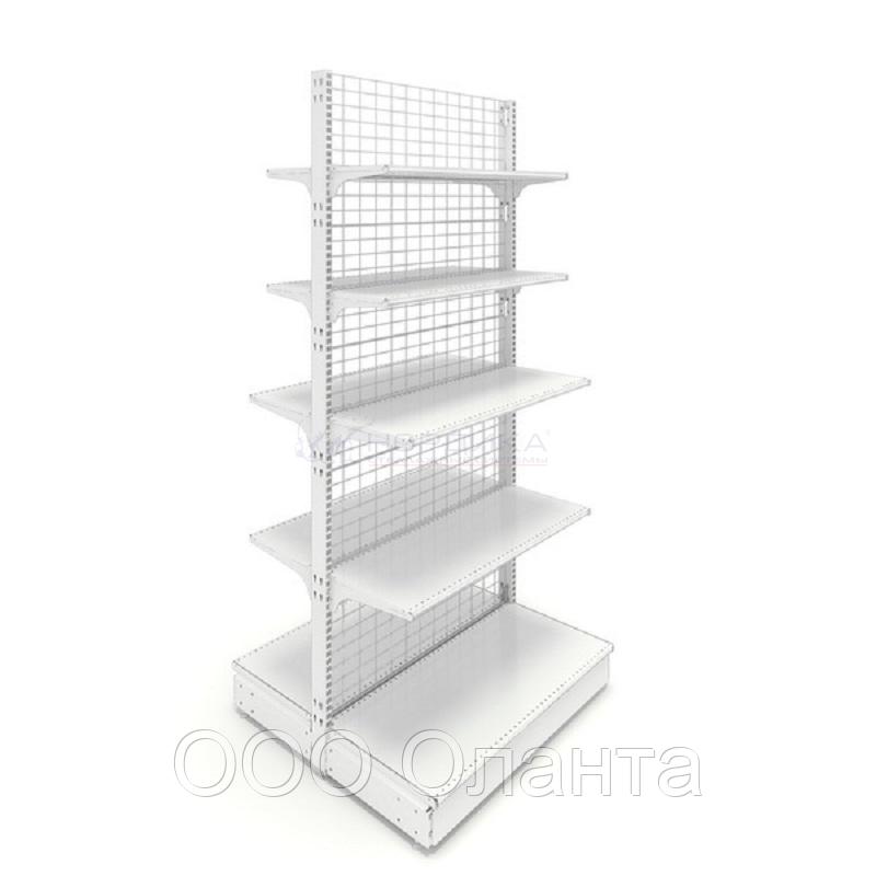 Островной металлический торговый стеллаж (1030х1070х2250 мм) сетка арт. СС-25