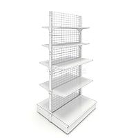 Островной металлический торговый стеллаж (1030х1070х2250 мм) сетка арт. СС-25, фото 1