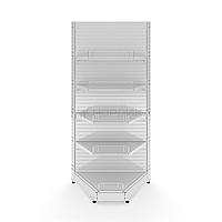 Угловой внутренний металлический торговый стеллаж (1030х570х2250 мм) арт. СУВ-25, фото 1