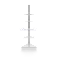 Угловой внешний металлический торговый стеллаж (570х570х2250 мм) арт. СУВН-25, фото 1