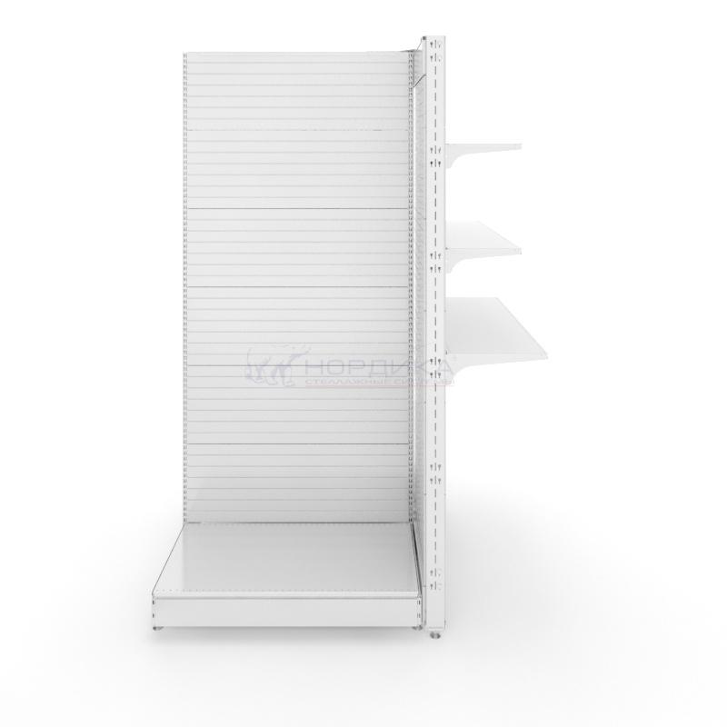 Островной металлический бонетный торговый стеллаж без базы (1500х1070х2250 мм) арт. СБ-25/2