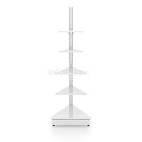 Угловой внешний металлический торговый стеллаж (500х580х2250 мм) арт. СУВН-50