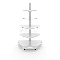 Торцевой металлический торговый стеллаж (1080х550х1900 мм) полукруглый арт. СТПЛ-50, фото 1