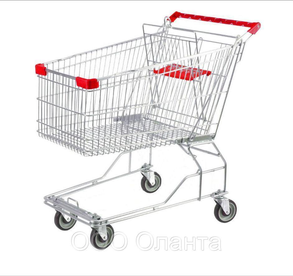 Тележка покупательская для магазина 90 литров с детским сиденьем арт. TPSA90-S