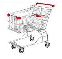 Тележка покупательская для магазина 100 литров с детским сиденьем арт. TPSA100-S