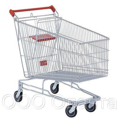 Тележка покупательская для магазина 240 литров с детским сиденьем арт. TPSA240-S