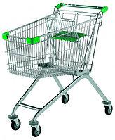 Тележка покупательская для магазина 60 литров с детским сиденьем арт. TPSE60-S