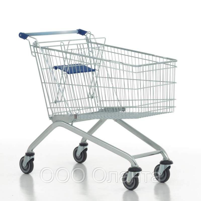 Тележка покупательская для магазина 100 литров с детским сиденьем арт. TPSE100-S