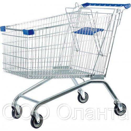 Тележка покупательская для магазина 180 литров с детским сиденьем арт. TPSE180-S