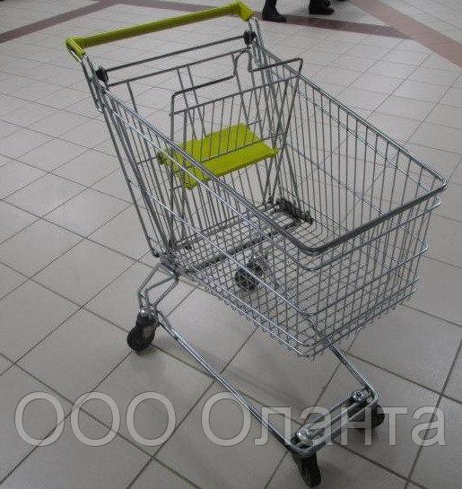 Тележка покупательская траволаторная для магазина 60 литров с детским сиденьем арт. TPMAT60-S