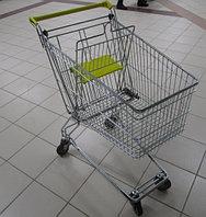 Тележка покупательская траволаторная для магазина 60 литров с детским сиденьем арт. TPMAT60-S, фото 1