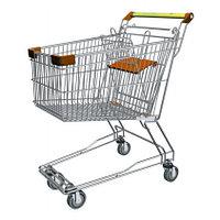 Тележка покупательская траволаторная для магазина 100 литров с детским сиденьем арт. TPMAT100-S, фото 1