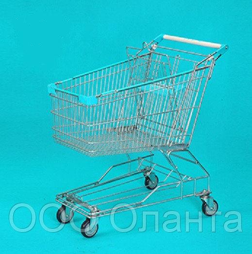 Тележка покупательская траволаторная для магазина 125 литров с детским сиденьем арт. TPMAT125-S