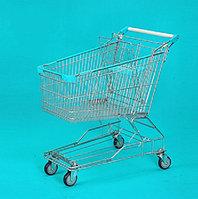 Тележка покупательская траволаторная для магазина 125 литров с детским сиденьем арт. TPMAT125-S, фото 1