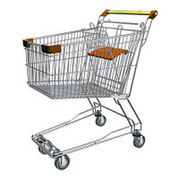 Тележка покупательская траволаторная для магазина 150 литров с детским сиденьем арт. TPMAT150-S, фото 1