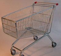 Тележка покупательская траволаторная для магазина 100 литров арт. TPMET100, фото 1