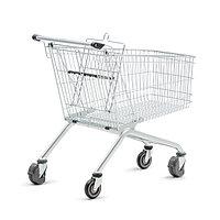 Тележка покупательская траволаторная для магазина 150 литров с детским сиденьем арт. TPMET150-S, фото 1