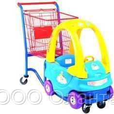 Тележка-автомобильчик покупательская детская для магазина 80 литров арт. DTA-02