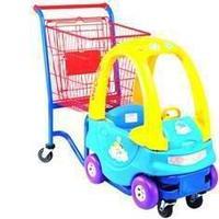 Тележка-автомобильчик покупательская детская для магазина 80 литров арт. DTA-02, фото 1
