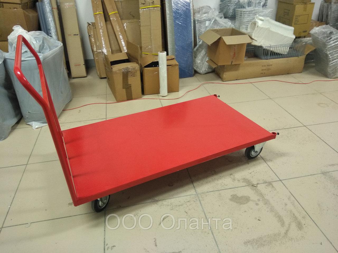 Тележка грузовая платформенная (1400х800 мм) до 450 кг арт. ТГПС14.80