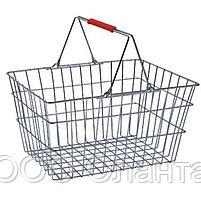 Корзина покупательская для магазина самообслуживания цинк 22 литра арт. KP22-ZNK